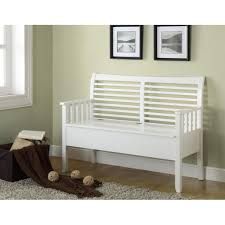 White Bench With Storage Furniture Appealing Design Of Wooden Bench With Storage To