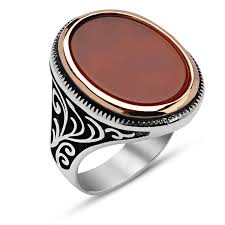 men ring classic aqeeq silver men ring boutique ottoman jewelry store