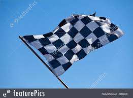 Blue White And Black Flag Flags Checkered Flag Stock Image I2639340 At Featurepics