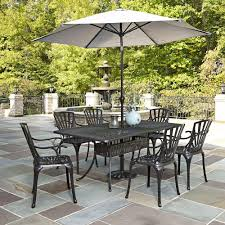 Outdoor Dining Patio Sets - home styles biscayne black 7 piece patio dining set 4 stationary