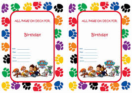 Free Invitation Birthday Cards Paw Patrol Birthday Invitations Birthday Party Invitations