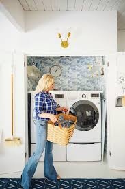 How To Hide Washer And Dryer by Laundry Closet Makeover Emily Henderson