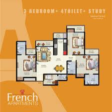 floor plan in french anthem french apartment noida extension anthem french apartment