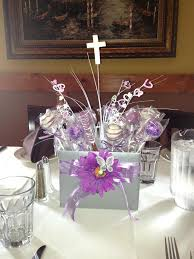 party centerpieces for tables centerpieces for confirmation confirmation centerpiece i made