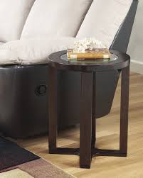 marion dark brown t477 round cocktail table with 4 backless stool