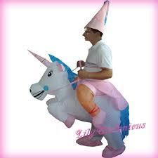 Horse Rider Halloween Costume Pegasus Unicorn Horse Riding Suit Inflatable Clothing Blow