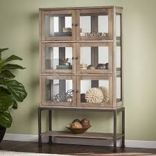 southern enterprises china cabinet southern enterprises braune lighted contemporary curio burnt oak