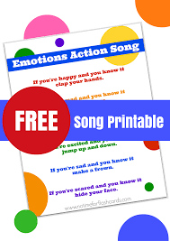 emotions song for preschool with free lyrics printable no time