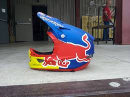 red bull motocross helmets semenuk u0027s new troy lee d3 with custom paint brandon semenuk u0027s