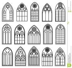 gothic window silhouettes stock vector image 49121152 royalty free vector