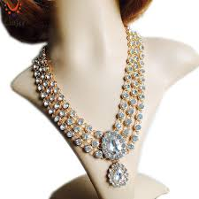 gold stone necklace images Liujee new indian gold color kundan stone necklace women wedding jpg
