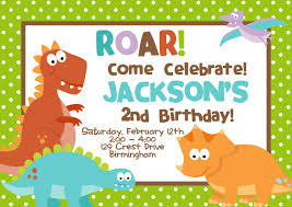 2nd Birthday Invitation Card Cretaceous Dinosaur Birthday Party Invitations U2013 Bagvania Free