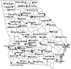 Georgia Counties Map Comparison Of Priestley Taylor And Fao 56 Penman Monteith For