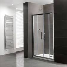 volente double sliding door silver shower enclosure buy online at