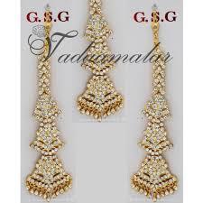jhumka earrings with chain bharatanatyam earrings jumkis jhumkas with mattal ear chain
