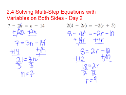 multi step equations variables on both sides tessshlo
