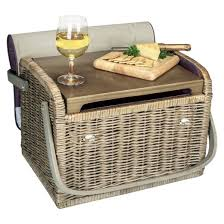 wine basket picnic time aviano collection kabrio wine basket target