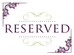 wedding signs template printable reserved table signs printable paper