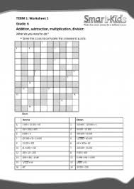 grade 6 maths worksheet the four operations smartkids