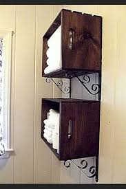 Towel Rack Ideas For Bathroom Colors 20 Easy Diy Shelves For The House Shelving Crates And Towels
