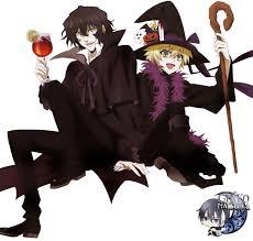 render oz gilbert pandora hearts halloween by ginkochan