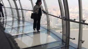 glass floor glass bottomed skywalk oriental pearl tower shanghai youtube