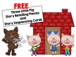 free pigs retelling story sequencing cards tpt