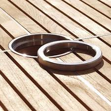 Patio Table Cover With Umbrella Hole Zipper by Kingsley Bate Table Umbrella Hole Reducer Ring