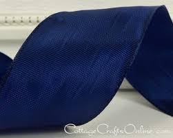wired ribbon 1 1 2 wide navy blue taffeta ten yard
