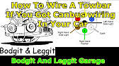 vw caddy tow bar wiring bypass relay youtube