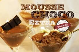 mousse au chocolat légère en 4 minutes