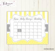 printable calendar 2016 etsy printable due date calendar calendar template 2018