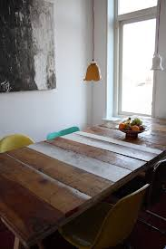 natural wood dining room table modern reclaimed wood dining table and bench white chairs natural