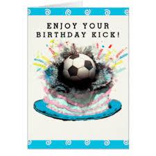 soccer birthday greeting cards zazzle