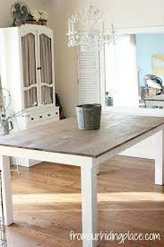 Dining Table White Legs Wooden Top Kitchen Table Wood Top With White Legs Kitchens Pinterest