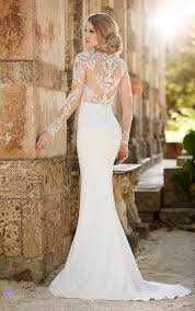 fitted wedding dresses lace illusion sheath wedding dress martina liana wedding dresses