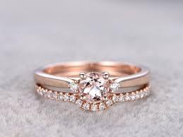 morganite bridal set 2 morganite bridal set engagement ring gold 3 diamond