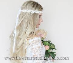 flowergirl hair white bridal headband white floral crown flower girl hair wreath