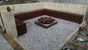 Gravel Fire Pit Area - he completely upgraded his backyard dump with a fire pit