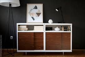 How To Decorate A Credenza The 10 Coolest Mid Century Ikea Hacks Hither U0026 Thither