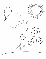 spring watering free printable coloring pages coloring