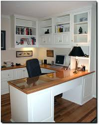 Desk Shapes U Shaped Home Office Desk Shape With Right Return Hutch