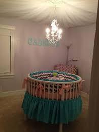 custom round crib bedding aqua and navy made to order on etsy