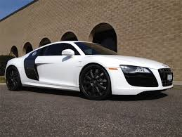 Audi R8 All Black - 2006 white audi r8 with black dub x18 palazzo wheels staggered 20