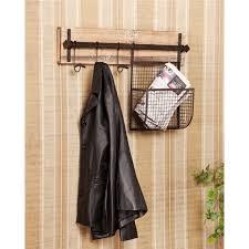 wall mounted coat rack ashbury entryway wall mount coat rack with storage coat racks