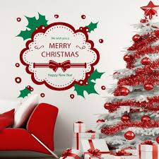 popular christmas wall murals buy cheap christmas wall murals lots new arrived christmas wall decals wreath colorful home door decor vinyl wall mural kinds of color