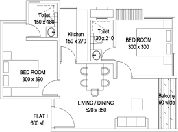 600 sq ft 2 bhk 2t apartment for sale in lord krishna builders