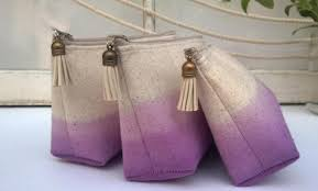 bridesmaid gifts cheap set of 6 one free boho bridesmaid gifts cotton clutch