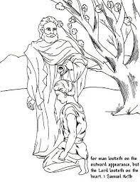 Samuel Anointed David As A King In The Story Of King Saul Coloring Samuel Coloring Pages