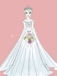 of course someone would draw elsa in a wedding dress that looks